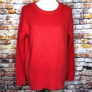J. Crew Red Tunic Sweater